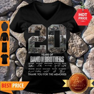 20 Years Of Band Of Brothers Thank You For The Memories Signatures V-neck