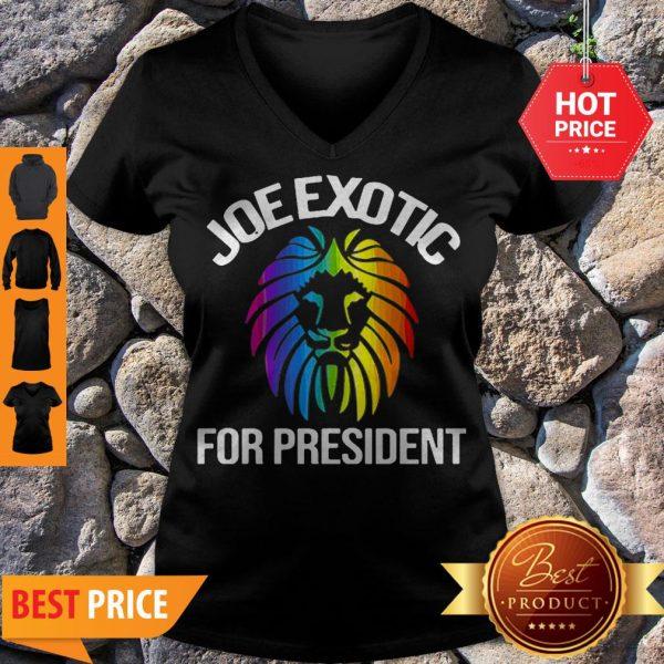 Official Joe Exotic For President 2020 V-neck