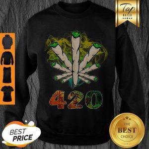Official Weed Cannabis 420 Weed Day Sweatshirt