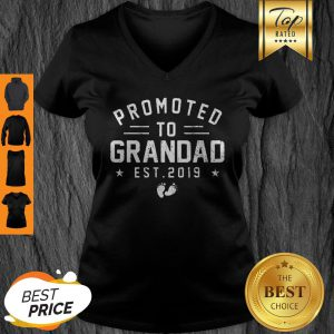 Beautiful Promoted To Grandad Est 2019 Mother's Day Gifts Men V-neck
