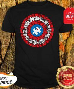 Captain Autism Puzzle Superhero Shield Autism Awareness Gift Shirt