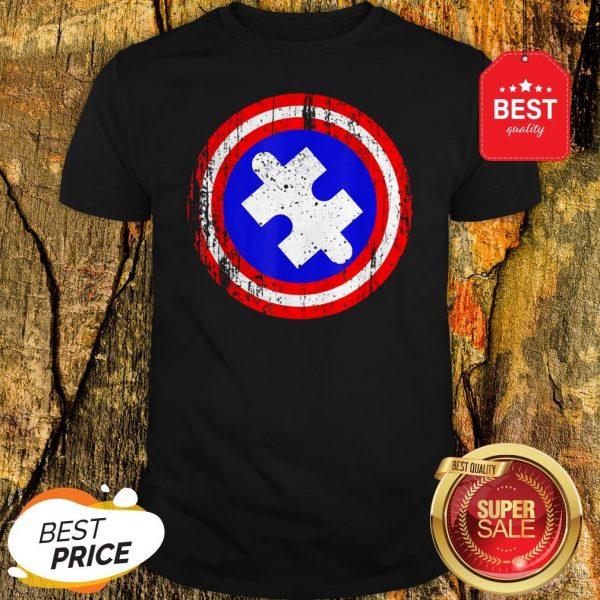 Captain Autism Superhero Autism Awareness Shirt