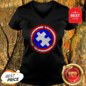 Captain Autism Superhero Autism Awareness V-neck
