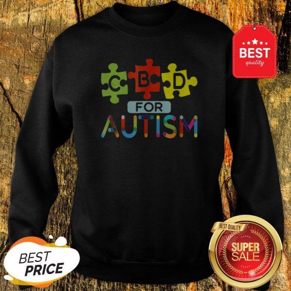 CBD For Autism Awareness Shirt Hemp Oil Puzzle Gift Sweatshirt