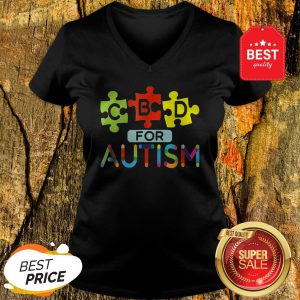 CBD For Autism Awareness Shirt Hemp Oil Puzzle Gift V-neck