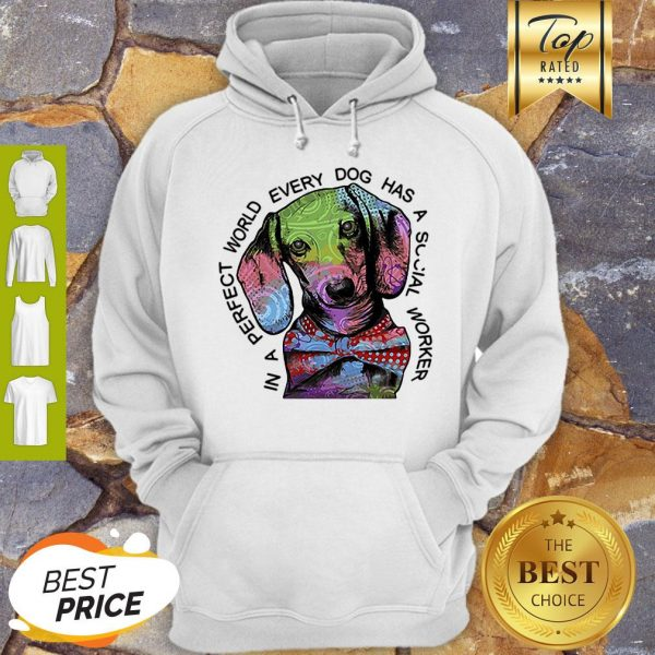 Dachshund In A Perfect World Every Dog Has A Social Worker Hoodie