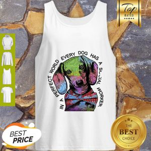Dachshund In A Perfect World Every Dog Has A Social Worker Tank Top