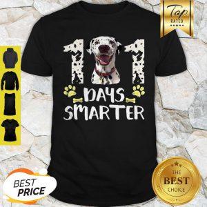Dalmatian 101 Days Smarter School Teacher Shirt