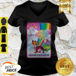 Dolphin Elephant Tiger Nobody Cares Existence Is Meaningless V-neck