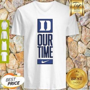 Duke Blue Devils Logo Basketball Our Time 2020 V-neck