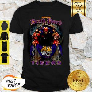 Five Finger Death Punch Holding LSU Tigers Flag Shirt