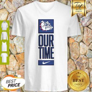 Gonzaga Bulldogs Logo Basketball Our Time 2020 V-neck