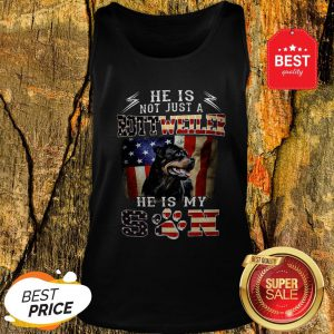 He Is Not Just A Rottweiler He Is My Son American Flag Tank Top