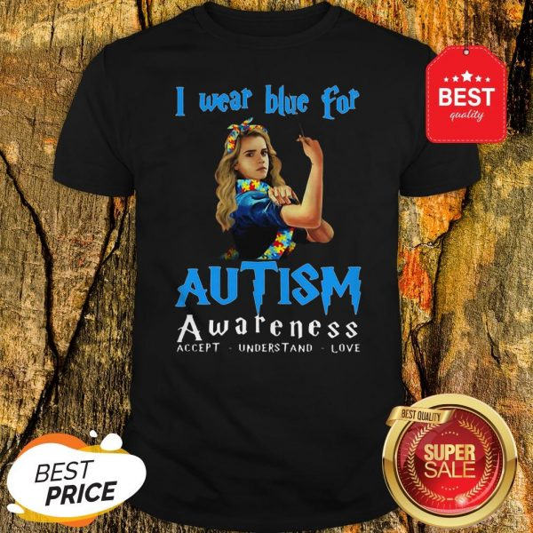 Hermione Granger I Wear Blue For Autism Awareness Harry Potter Shirt
