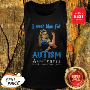 Hermione Granger I Wear Blue For Autism Awareness Harry Potter Tank Top