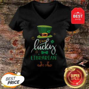 Leprechaun I'm A Lucky Librarian St Patrick's Day Gifts V-neck