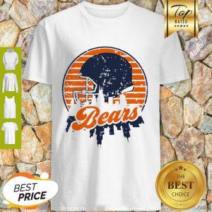 Nice Chicago Bears Football Skyline Retro Shirt