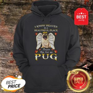 Nice I Know Heaven Is A Beautiful Place Because They Have My Pug Hoodie