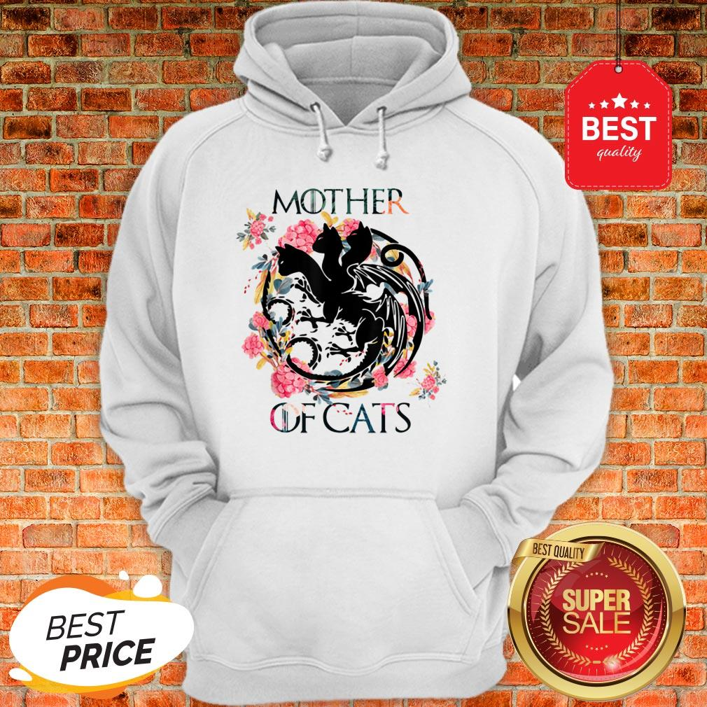 Nice Mother Of Cats – Cat Lovers Floral Gift For Cat Mom Hoodie