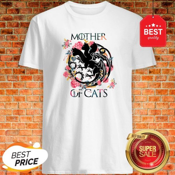 Nice Mother Of Cats – Cat Lovers Floral Gift For Cat Mom Shirt