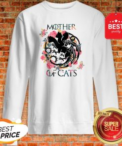Nice Mother Of Cats – Cat Lovers Floral Gift For Cat Mom Sweatshirt