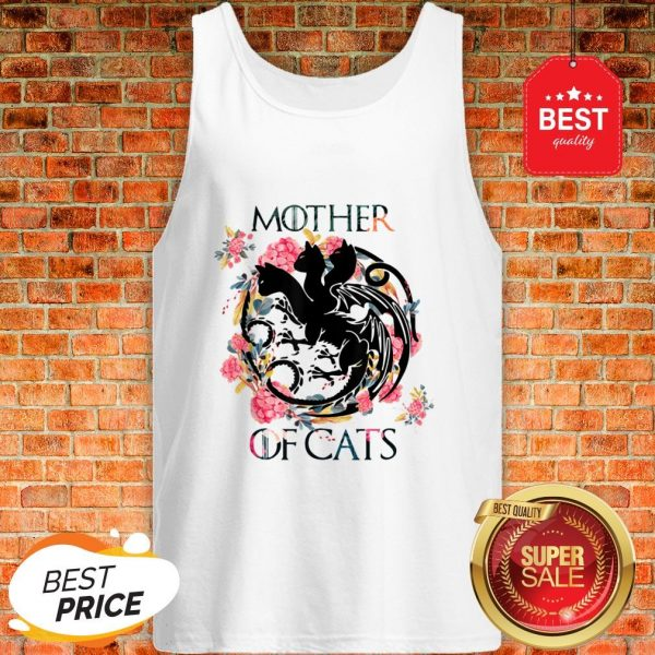 Nice Mother Of Cats – Cat Lovers Floral Gift For Cat Mom Tank Top
