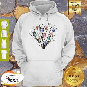 Nice Owl White Willows Flower Cute Hoodie
