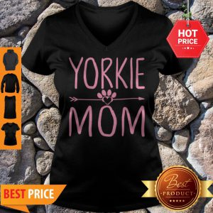 Nice Yorkie Mom Funny Dog Lover Mama Mothers Day Gift V-neck