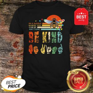 Official Autism Bee In A World Where You Can Be Anything Vintage Shirt