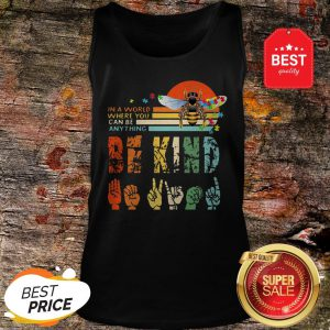 Official Autism Bee In A World Where You Can Be Anything Vintage Tank Top