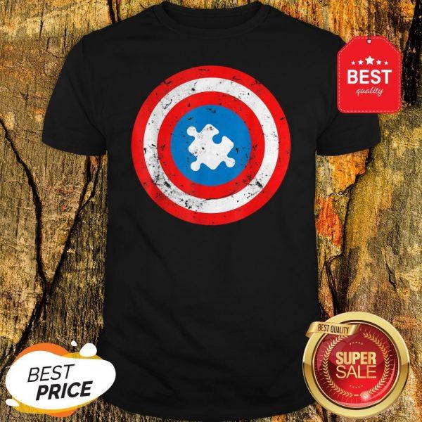 Official Captain Autism Puzzle Piece Cool Autism Superhero Shirt