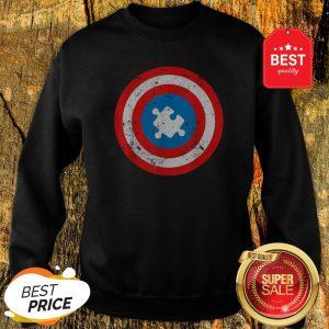 Official Captain Autism Puzzle Piece Cool Autism Superhero Sweatshirt