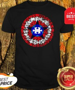 Official Captain Autism Superhero Shield Awareness Shirt