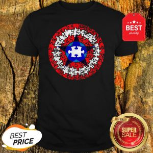 Official Captain Autism Superhero Shield Awareness Shirt