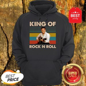 Official Elvis Presley King Of Rock N Roll Vintage Hoodie