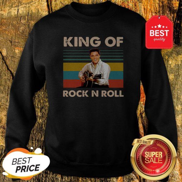Official Elvis Presley King Of Rock N Roll Vintage Sweatshirt
