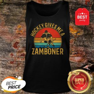 Official Hockey Gives Me A Zamboner Vintage Tank Top