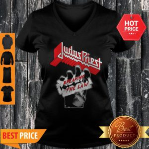 Official Judas Priest Breaking The Law V-neck
