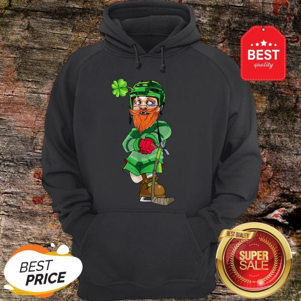 Official Leprechaun Ice Hockey St Patricks Day Hoodie