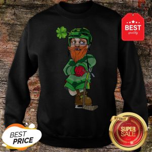 Official Leprechaun Ice Hockey St Patricks Day Sweatshirt
