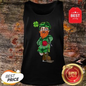 Official Leprechaun Ice Hockey St Patricks Day Tank Top
