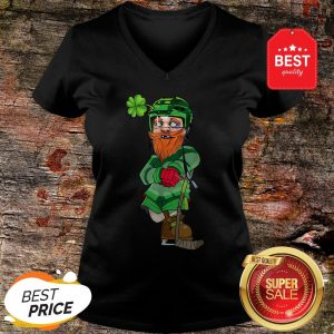 Official Leprechaun Ice Hockey St Patricks Day V-neck