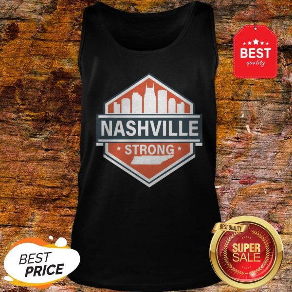 Official Tornado Nashville Strong I Believe In Tennessee Tank Top