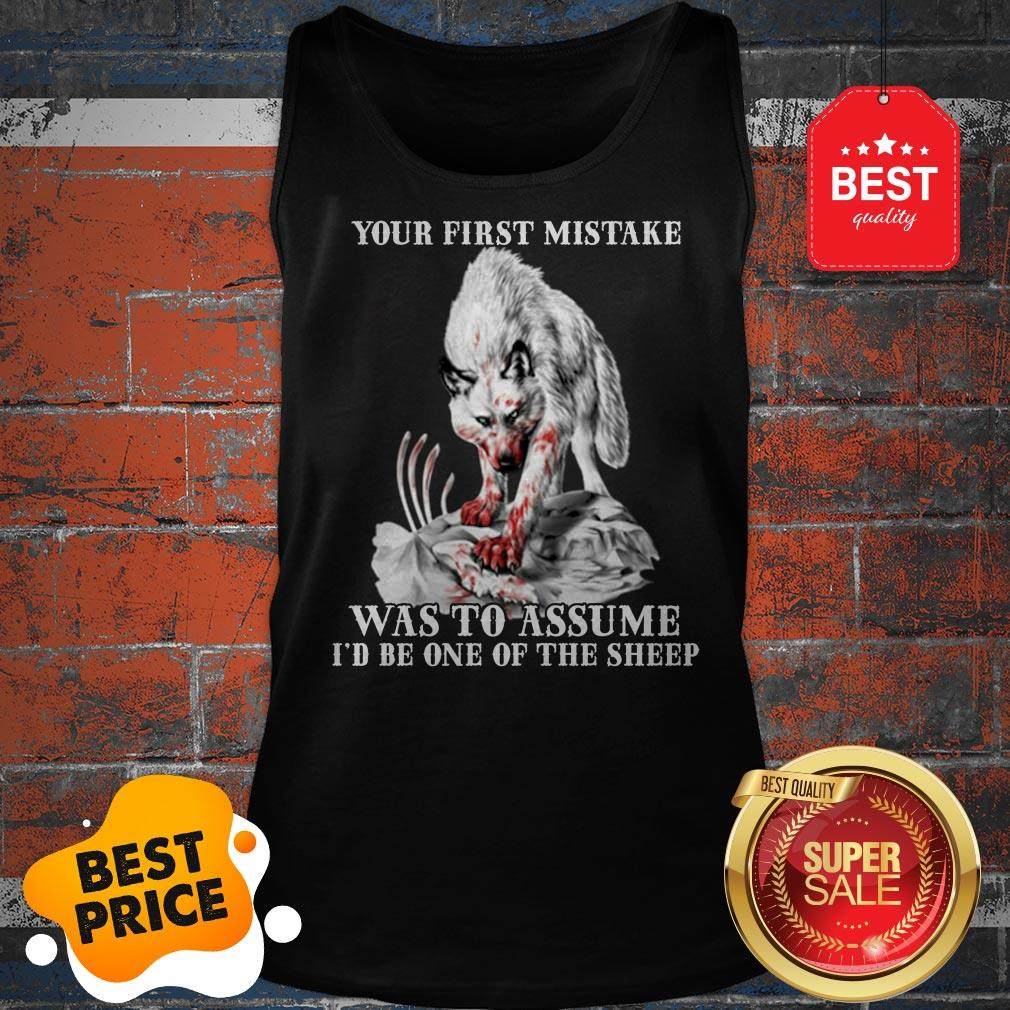 Wolf Your First Mistake Was To Assume I/'d Be One Of The Sheep Tshirt Men Black