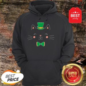 St Patricks Day Cat Funny With Irish Leprechaun Hat Hoodie