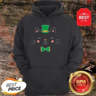 St Patricks Day Cat Funny With Irish Leprechaun Hat Hoodie - Design By Rulestee.com