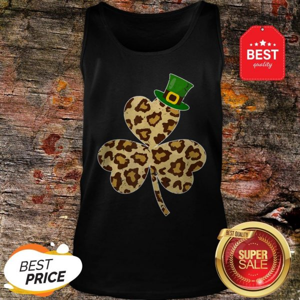 St Patricks Day Costume Leopard Shamrock Lover Gifts Tank Top - Design By Rulestee.com