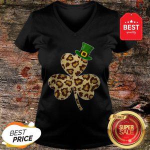 St Patricks Day Costume Leopard Shamrock Lover Gifts V-neck - Design By Rulestee.com