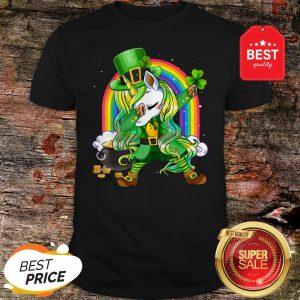 St Patricks Day Dabbing Unicorn Lepricorn Leprechaun Girls T-Shirt - Design By Rulestee.com