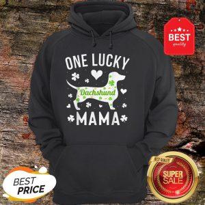 St Patricks Day Dachshund Lucky Mama Mom Dog Hoodie - Design By Rulestee.com